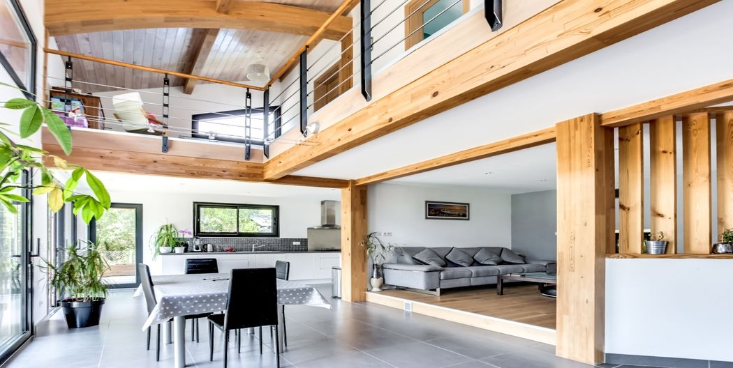 maison bois de qualit avec maison ossature bois. Black Bedroom Furniture Sets. Home Design Ideas